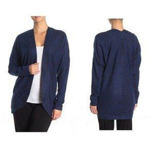 Z by Zella Curved Heathered Open Front Sweater NWT
